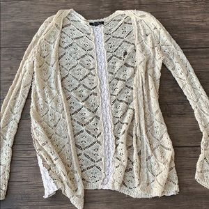 String lace cardigan honey punch